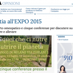 La Stampa omeopatia all'expo