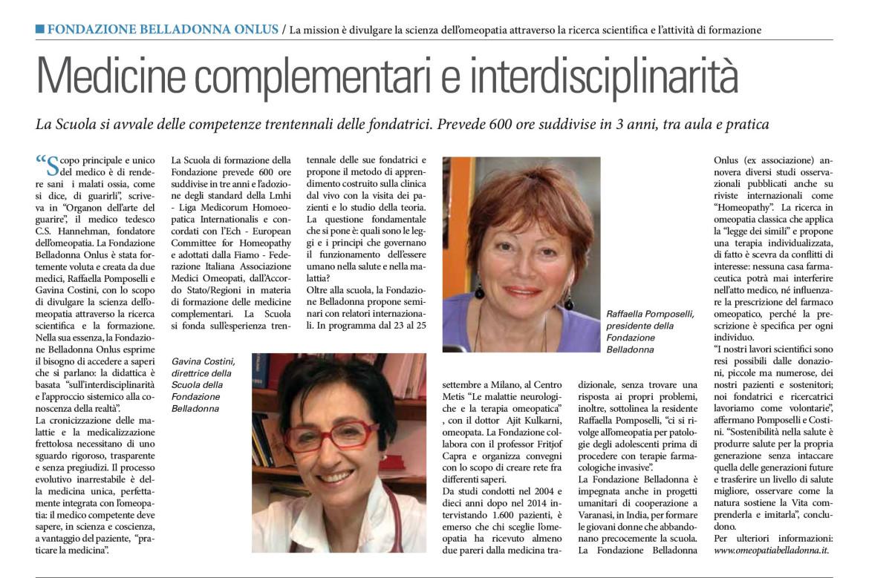 Medicine Complementari E Interdisciplinarita Salute E Benessere Eventi Il Sole 24 Ore Fondazione Belladonna Onlus